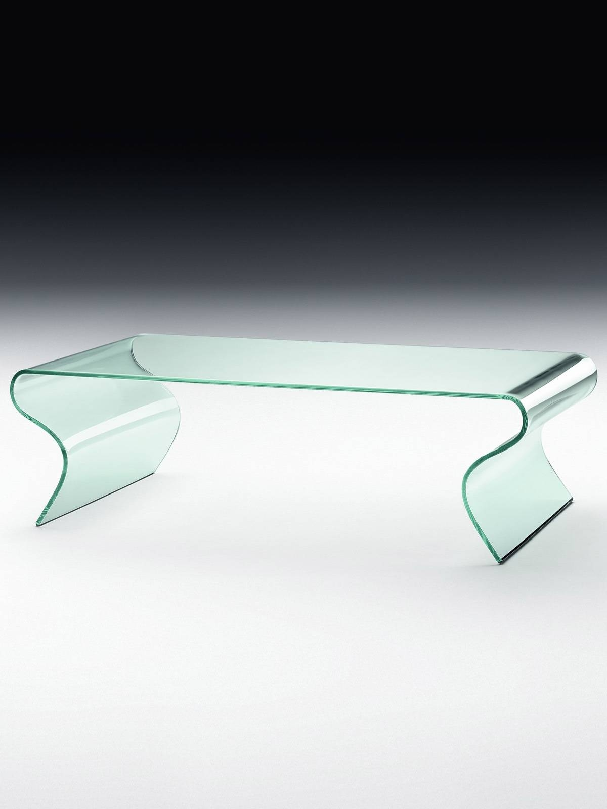 Charlotte - Curved Glass Coffee Table - Glassdomain for Curved Glass Coffee Tables (Image 6 of 30)