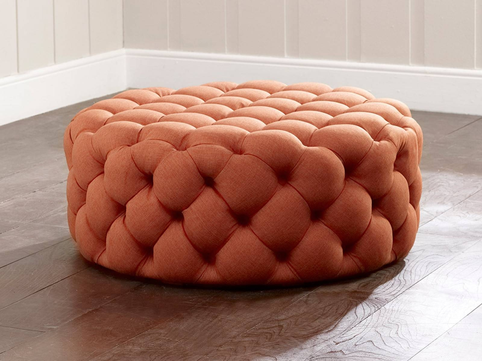Charlotte Upholstered Footstool | Living It Up with regard to Upholstered Footstools (Image 3 of 30)