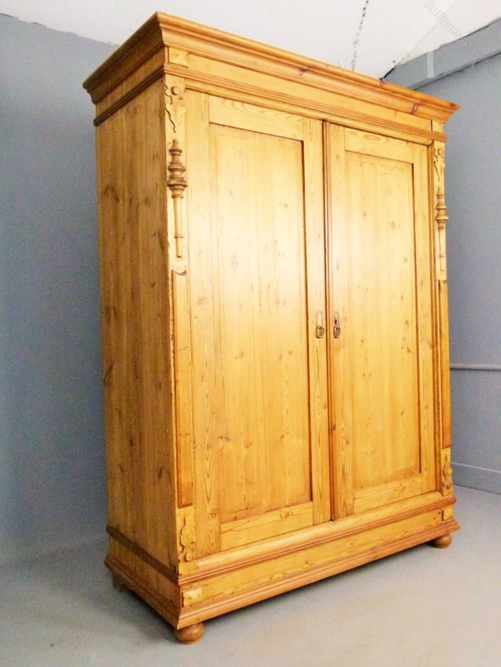 Charming Antique Pine French Armoire - Antiques Atlas for French Antique Wardrobes (Image 10 of 15)