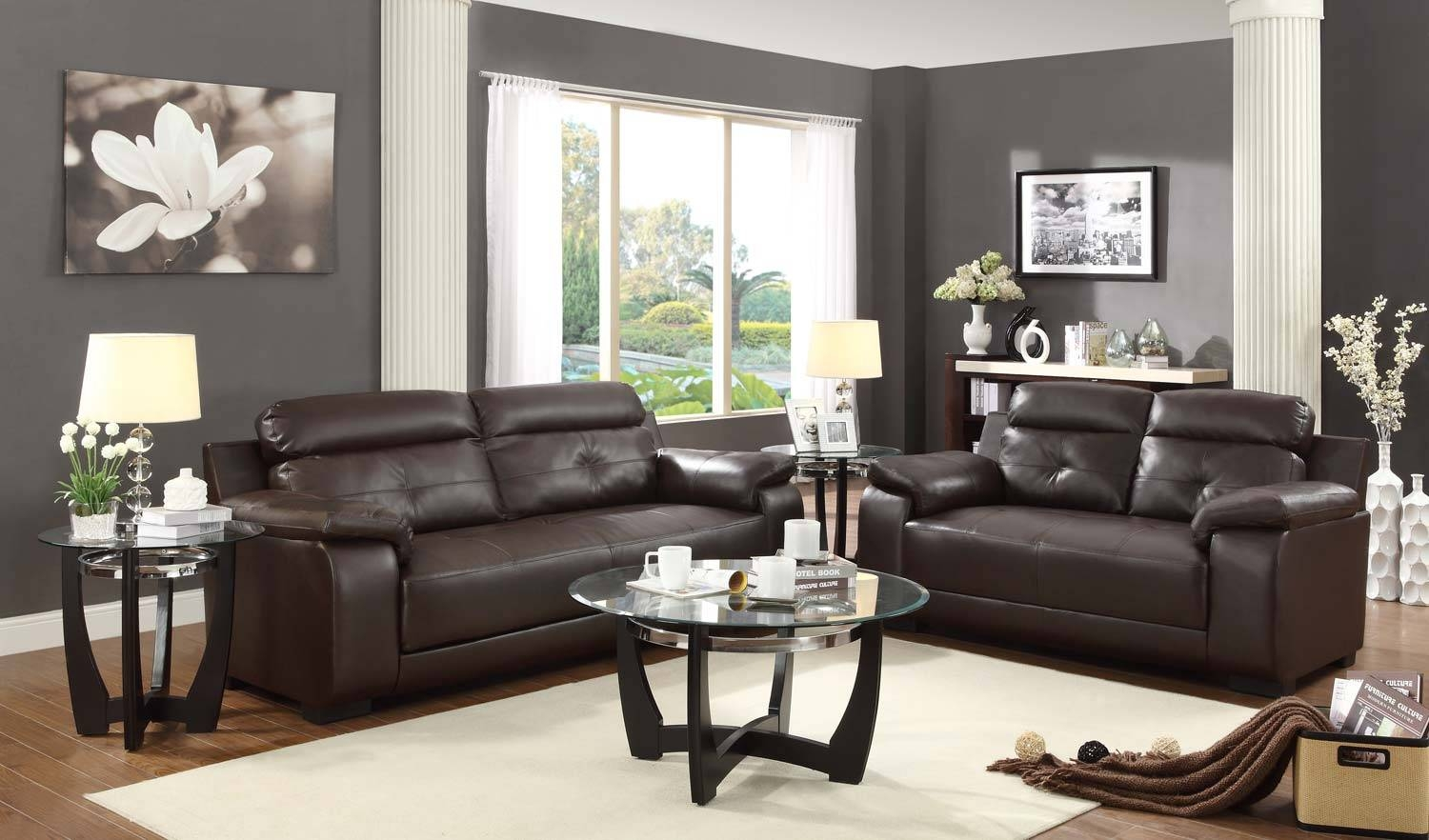 Charming Zane Sectional Sofa 16 For Your Diana Dark Brown Leather inside Diana Dark Brown Leather Sectional Sofa Set (Image 12 of 30)