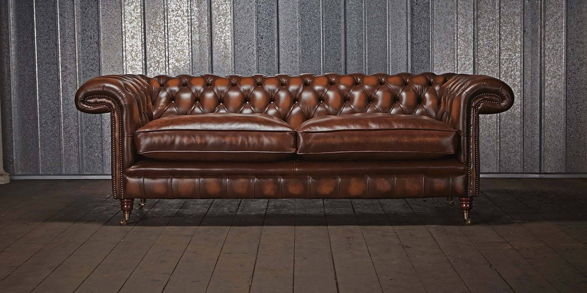 Chartwell Chesterfield Sofa | Chesterfields Of England with Chesterfield Furniture (Image 9 of 30)