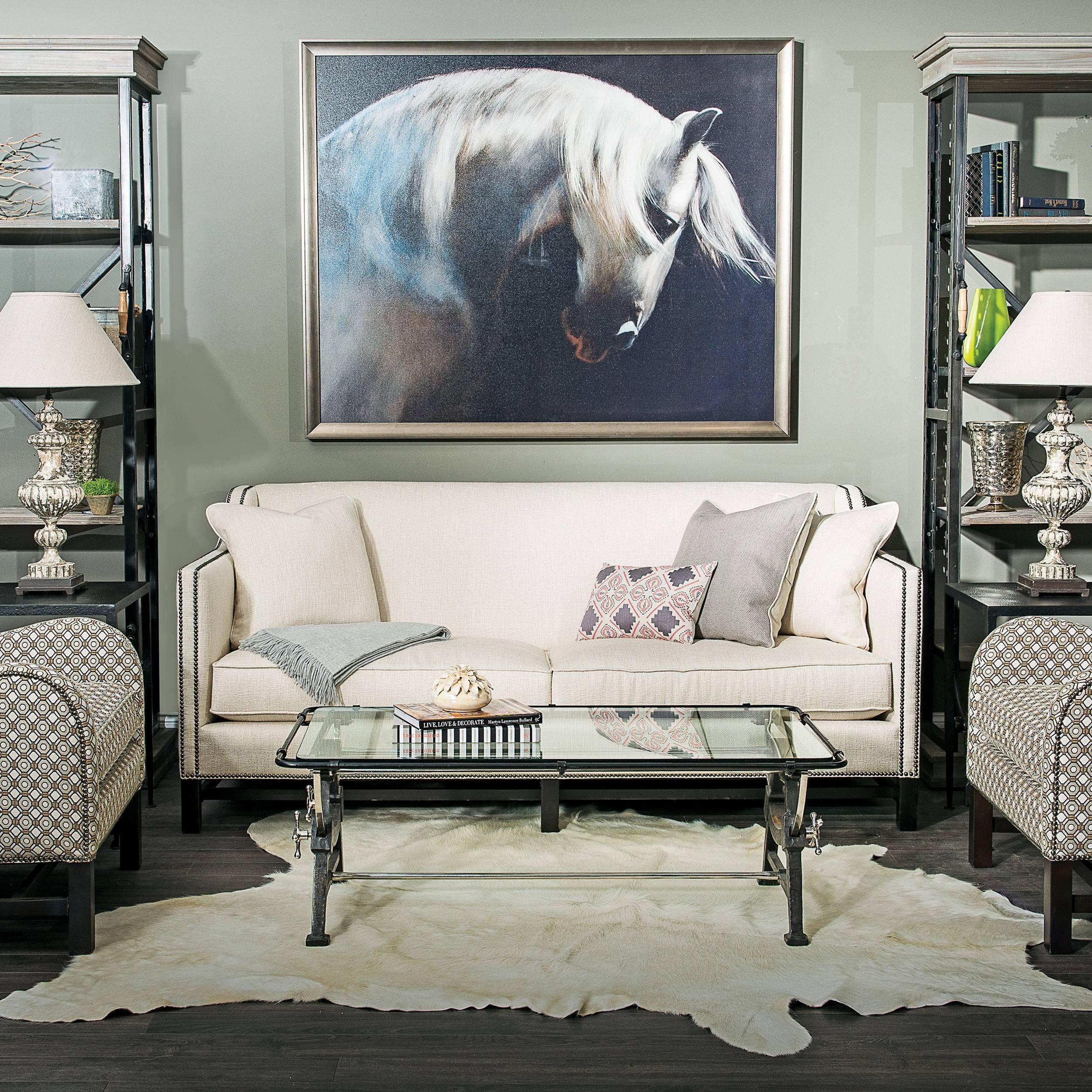 Chatham Sofa, Cream - Fabric - Sofas - Furniture regarding Fabric Sofas (Image 4 of 30)