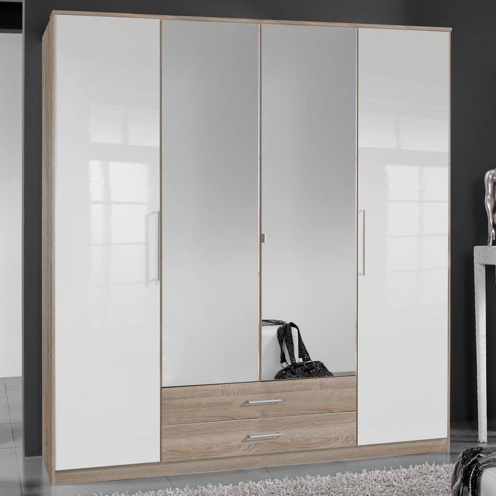 Cheap 4 Door Wardrobes | Hallway Furniture Ideas for Wardrobes Cheap (Image 2 of 15)