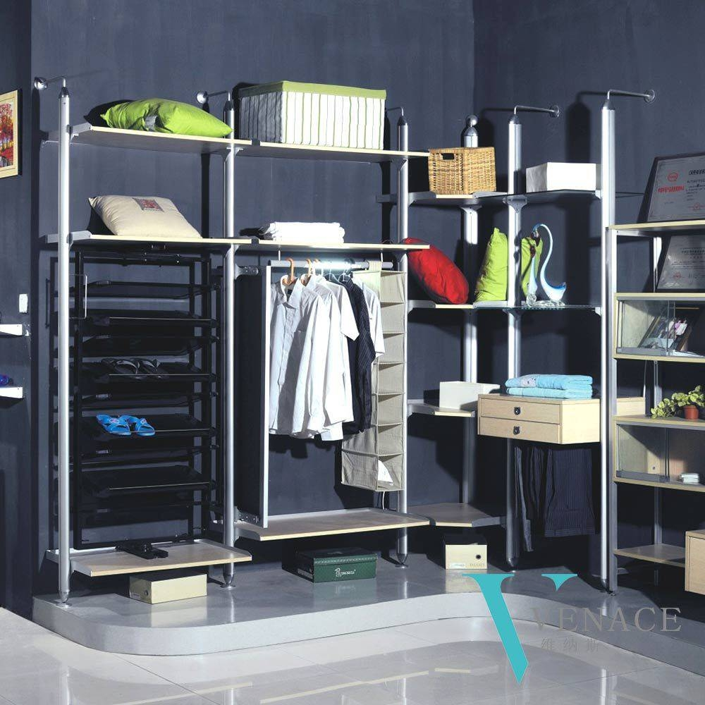 Cheap Aluminium Iron Portable Bedroom Wardrobe Designs Metal intended for Cheap Bedroom Wardrobes (Image 5 of 15)