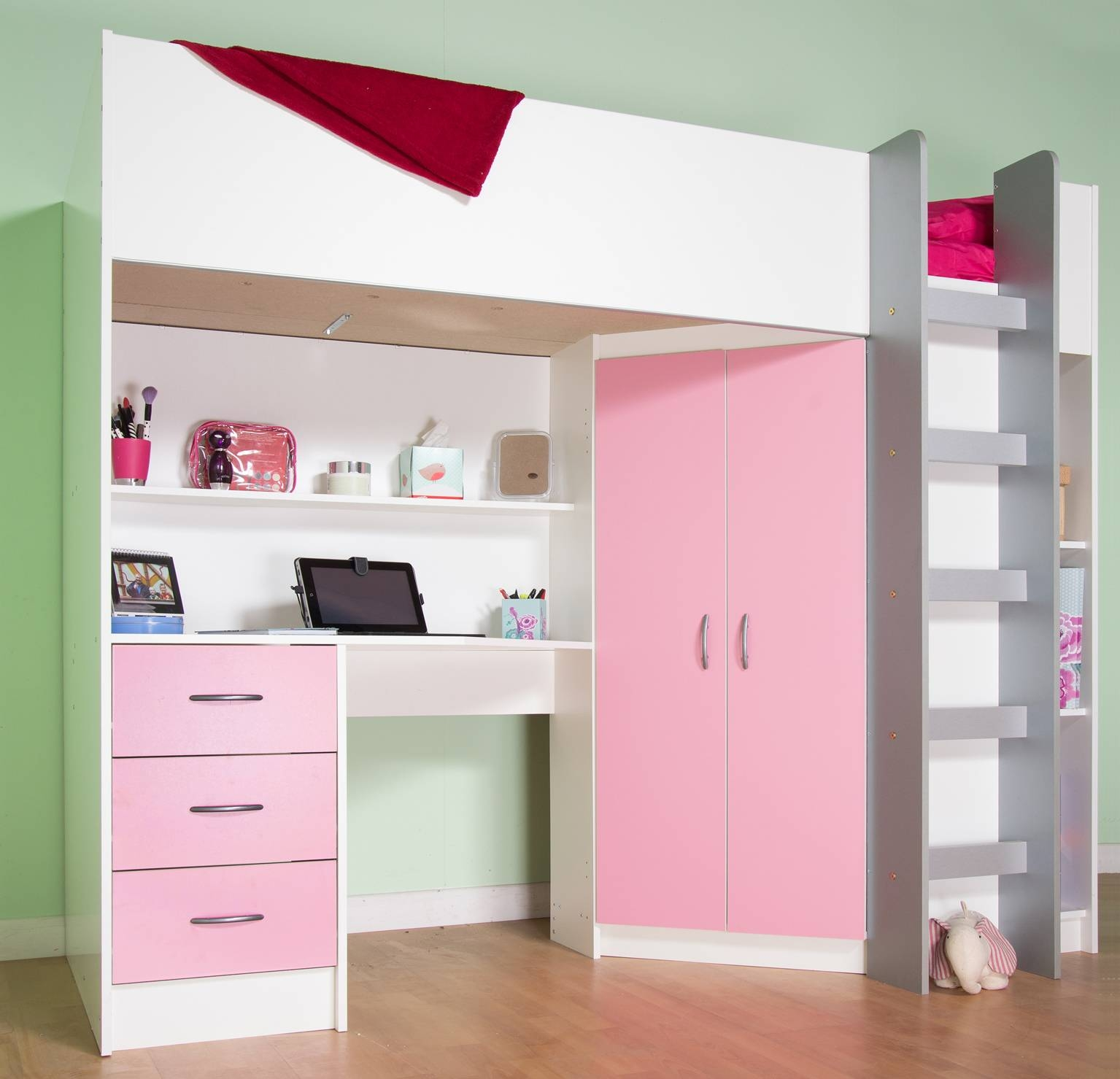 Cheap Cabin Beds With Desk | Kts-S intended for High Sleeper With Desk and Sofa Bed (Image 4 of 30)