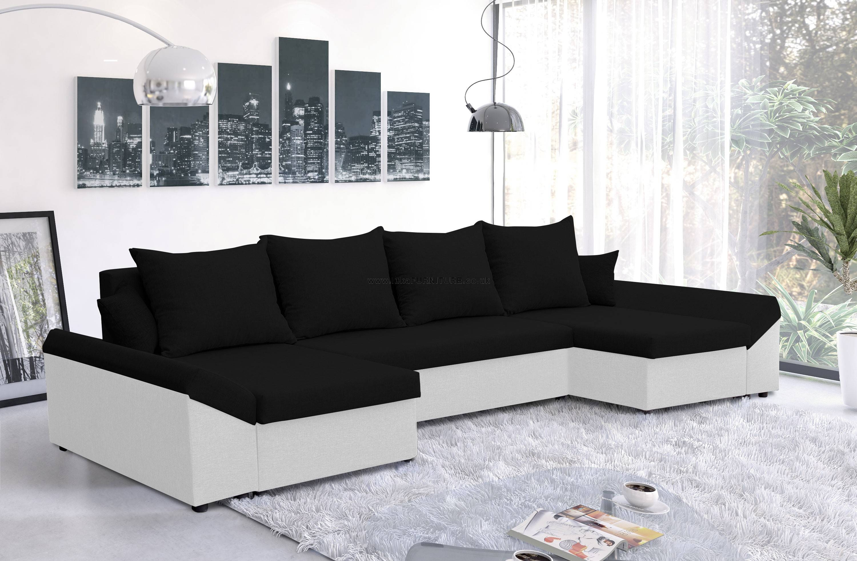 Cheap Corner Sofa Beds, Choose Fabric Or Leather - Uk Store inside Cheap Corner Sofa Bed (Image 3 of 30)