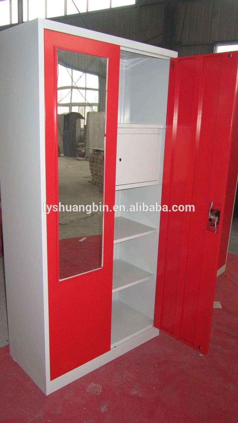 Cheap Double Colors Wardrobe Design Furniture Bedroom With Mirror Inside Cheap Double Wardrobes (View 3 of 15)
