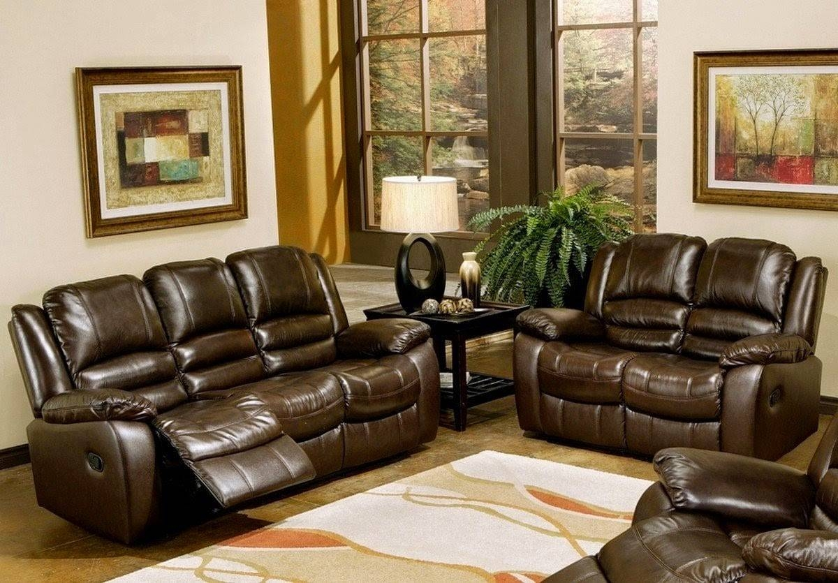 Cheap Reclining Sofas Sale: Italian Leather Recliner Sofa Set within 2 Seater Recliner Leather Sofas (Image 9 of 30)