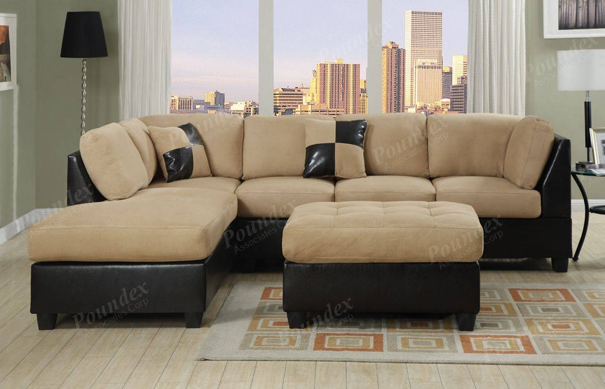 Cheap Sectional Sofas Under 300 with regard to Abbyson Living Charlotte Dark Brown Sectional Sofa and Ottoman (Image 10 of 30)