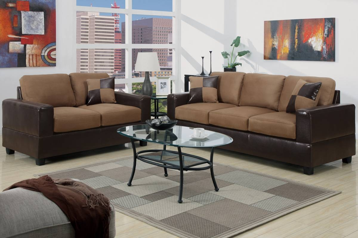 Cheap Two Tone Sofa Sets In Glendale, Ca A Star Furniture With Regard To Two