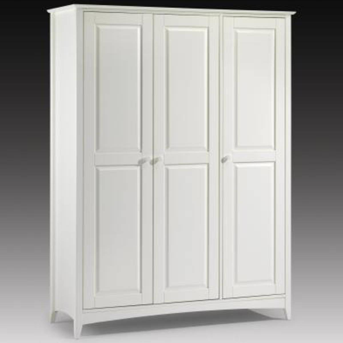 Cheap Wardrobe In White Lacquer |2 Door Wardrobe | Robinsons Beds for 3 Door White Wardrobes (Image 5 of 30)