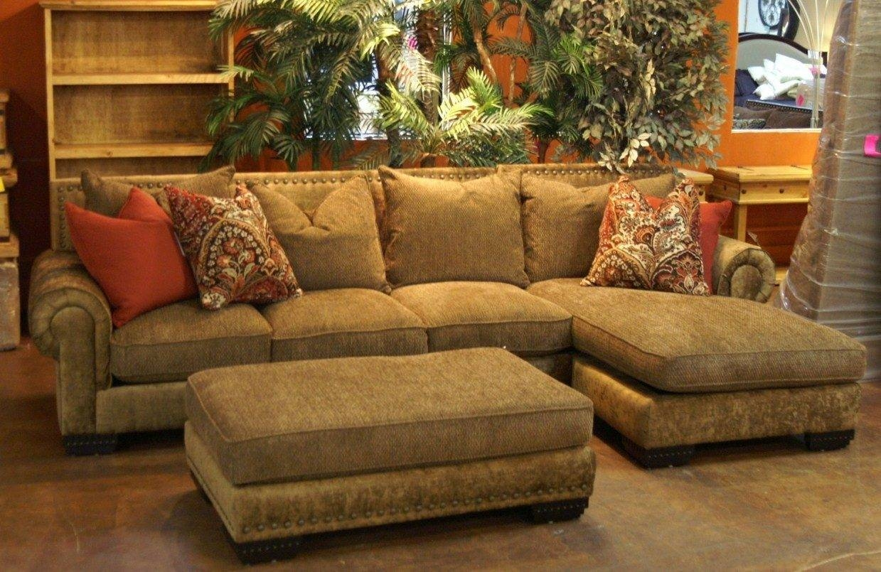 Chenille Sectional Sofa With Chaise | Sofa Gallery | Kengire for Gold Sectional Sofa (Image 5 of 25)