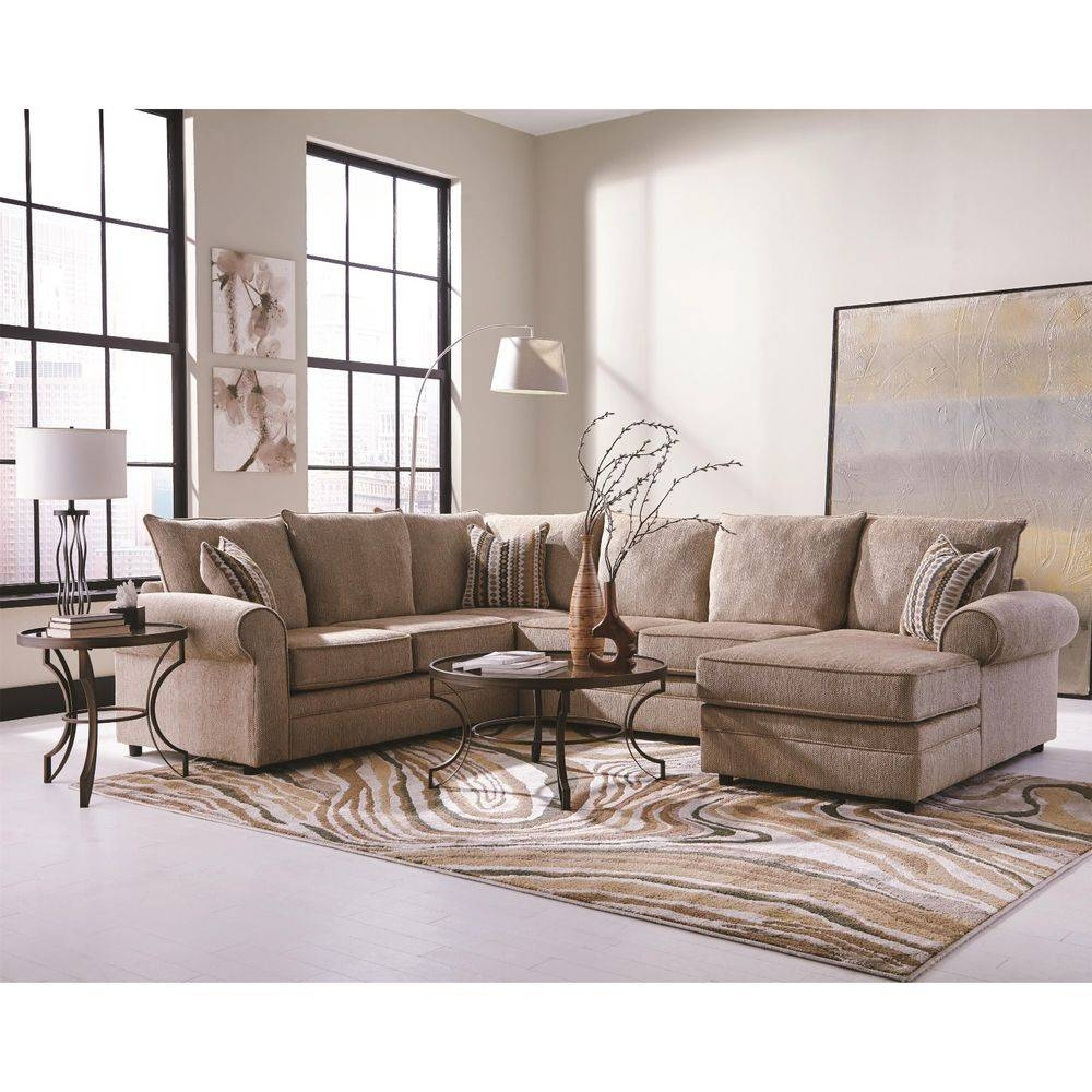 Chenille Sectional: Sofas, Loveseats & Chaises | Ebay with Chenille And Leather Sectional Sofa (Image 7 of 30)