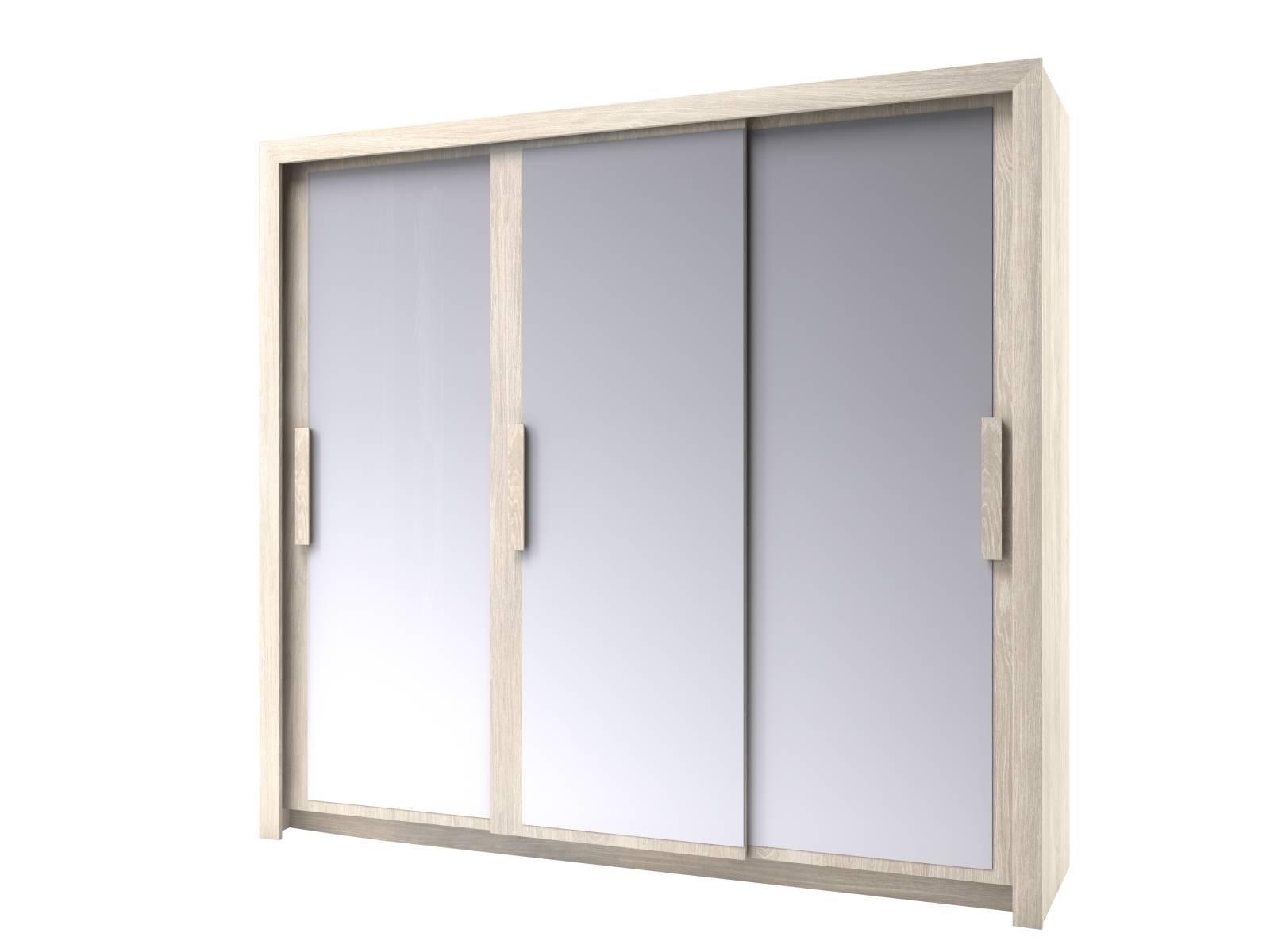 Chenin 3 Door Mirrored Wardrobe (Light Oak) | All Ranges | Cousins Inside 3 Door Mirrored Wardrobes (View 6 of 15)