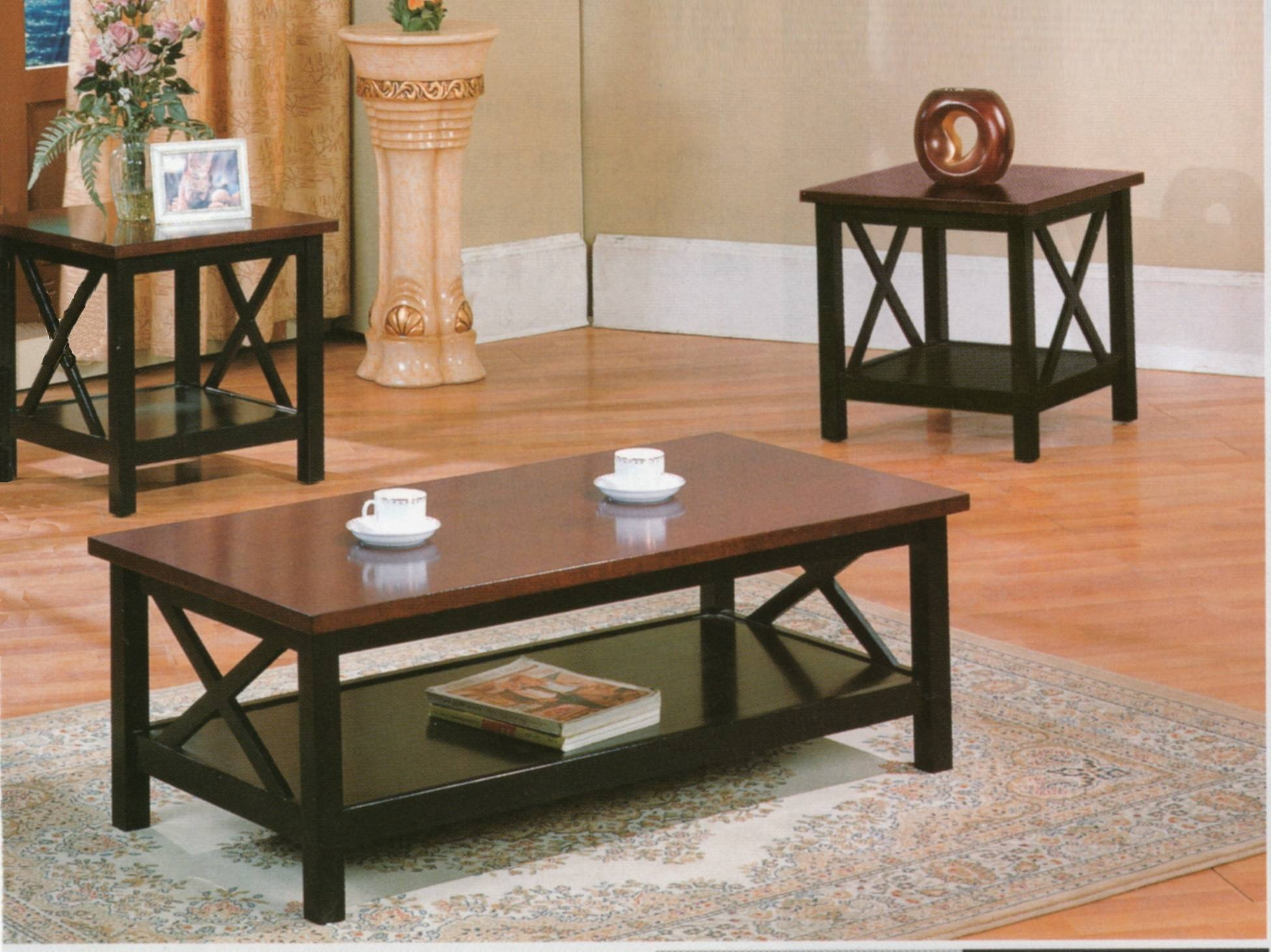 Cherry Coffee Table Set | Coffee Tables Decoration with regard to Cherry Wood Coffee Table Sets (Image 5 of 30)