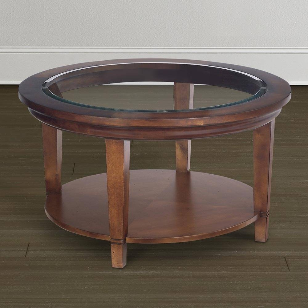 Cherry Round Coffee Table | Coffee Tables Decoration in Half Circle Coffee Tables (Image 4 of 30)