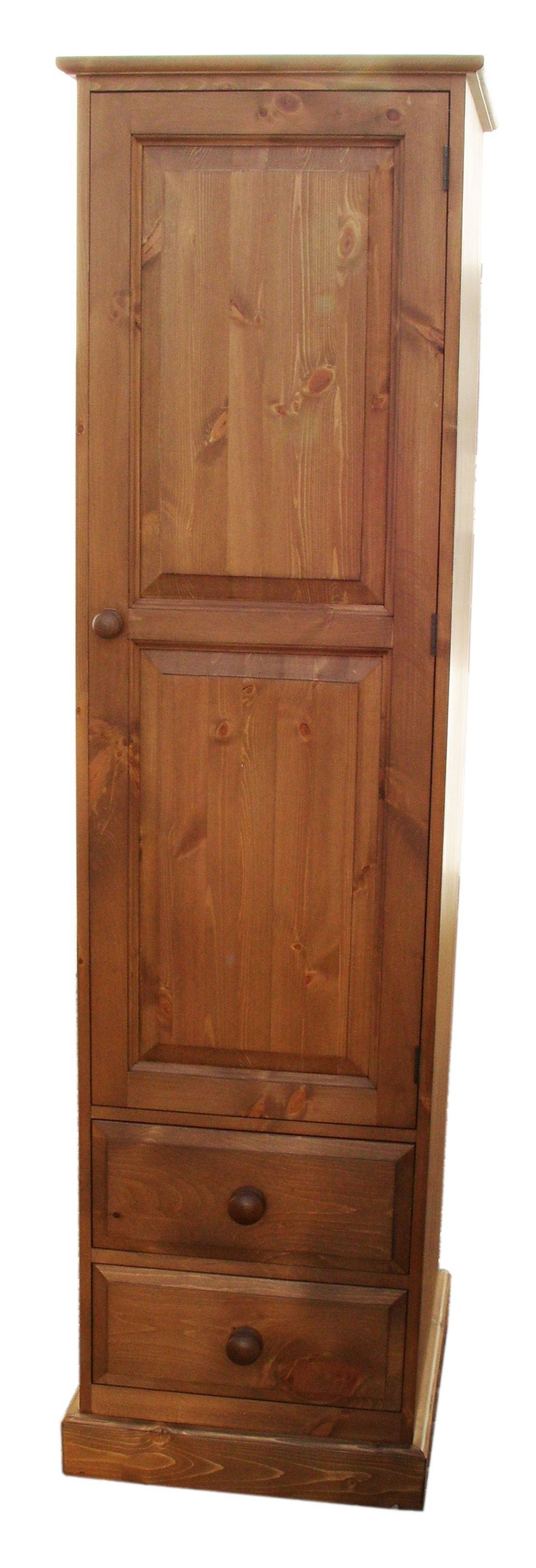 Cheshire Single Door 2 Drawer Wardrobe intended for Single Door Pine Wardrobes (Image 4 of 15)