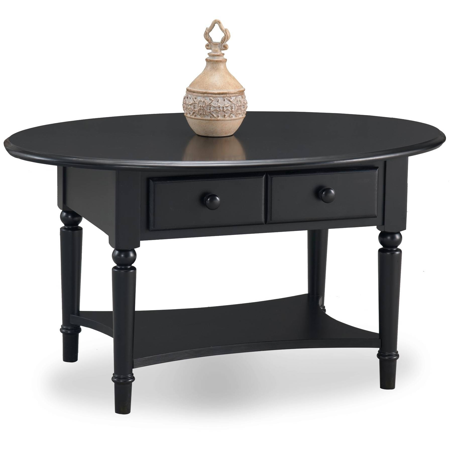 Chest Coffee Table Small Dark Wood Lucnex Black Oval And Full Size within Black Oval Coffee Table (Image 3 of 30)