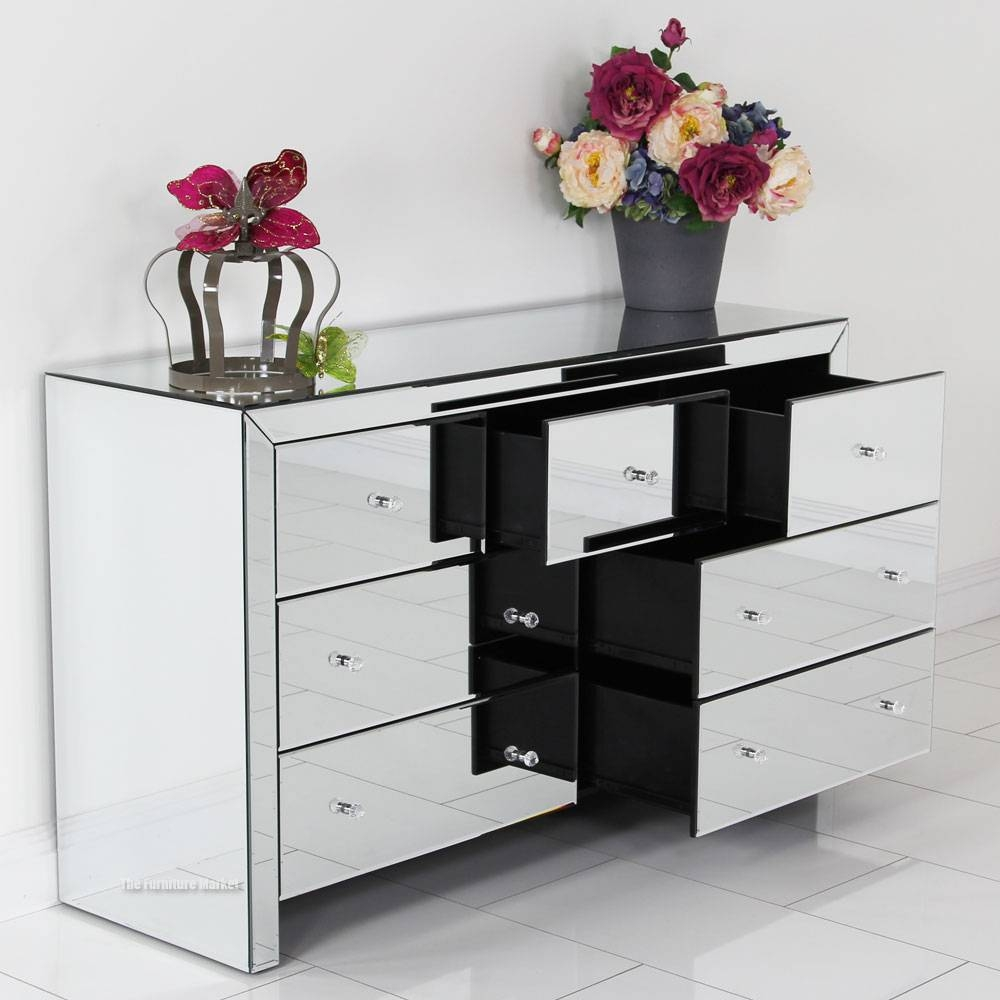 Chest Of Mirrored Chest Of Drawers Female | Home Designjohn for Venetian Mirrored Chest of Drawers (Image 5 of 25)