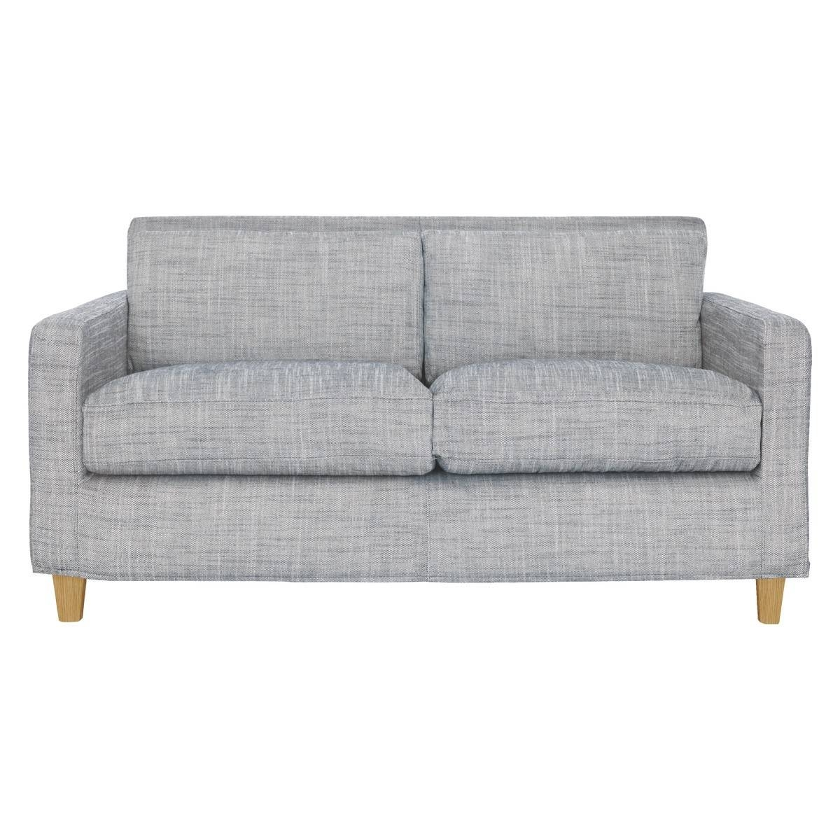 Chester Black & White Italian Woven Fabric 2 Seater Sofa, Oak within 2 Seater Sofas (Image 9 of 30)