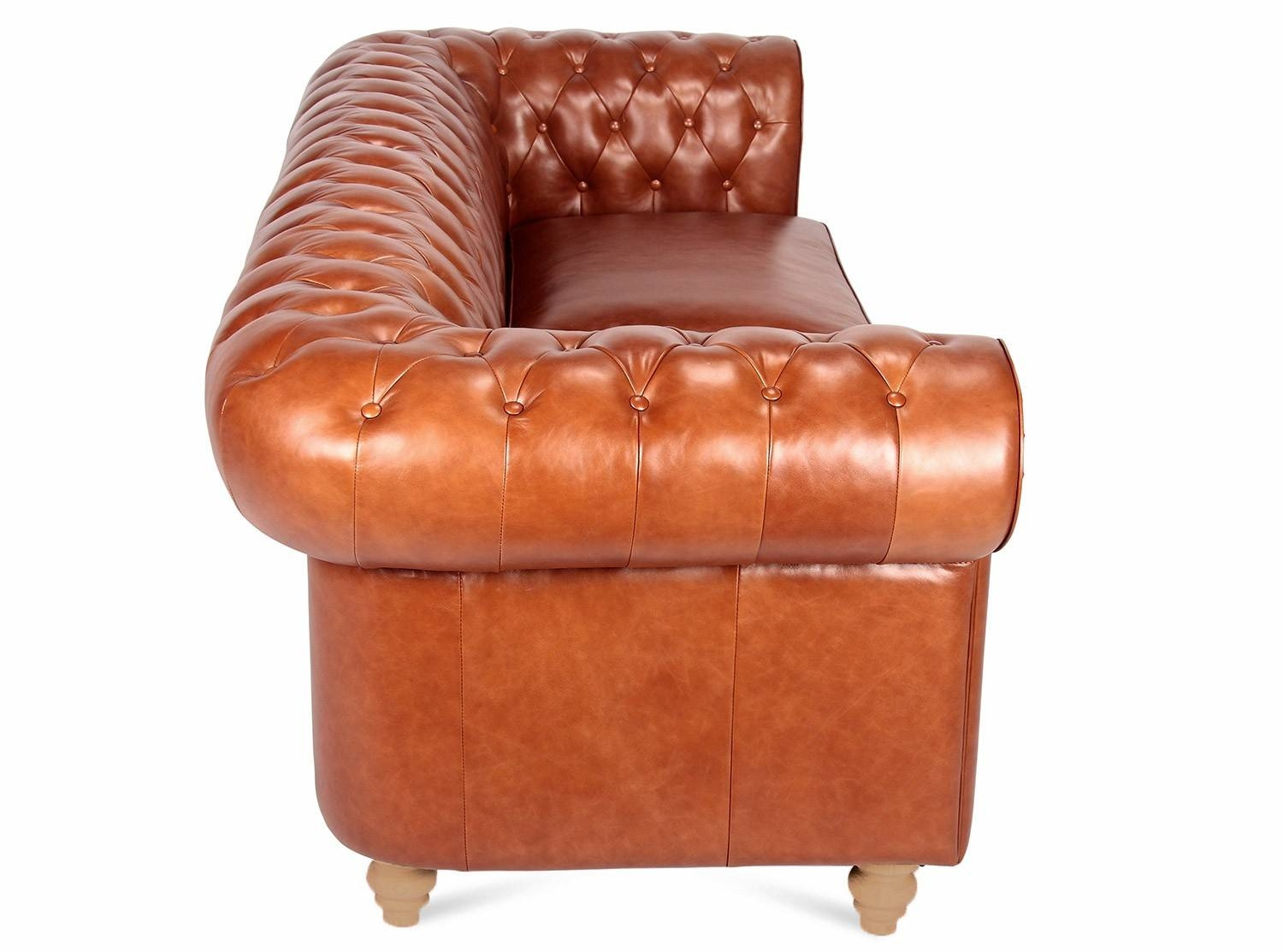 Chesterfield Sofa 3 Seater in Aniline Leather Sofas (Image 15 of 30)