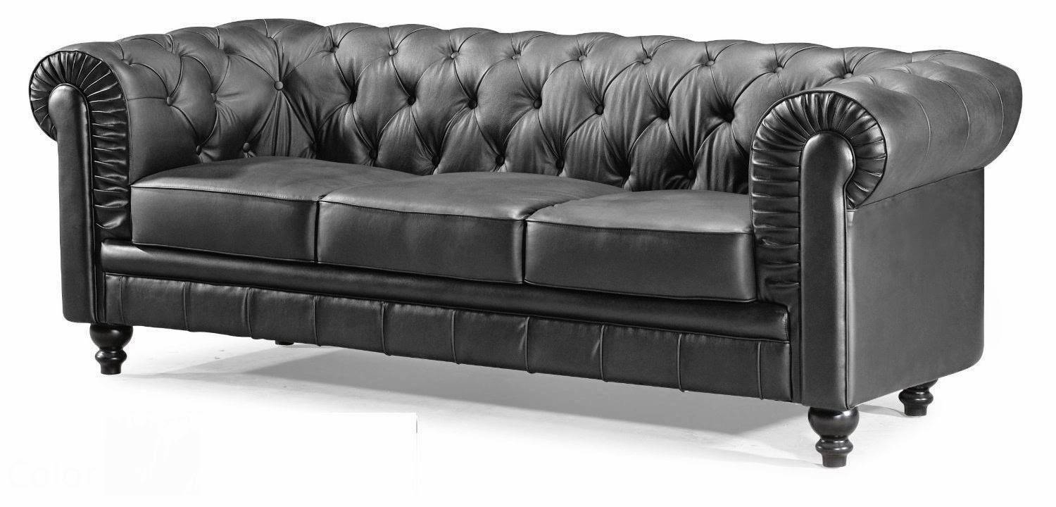 Chesterfield Sofa: Leather Chesterfield Sofa inside Tufted Leather Chesterfield Sofas (Image 7 of 30)
