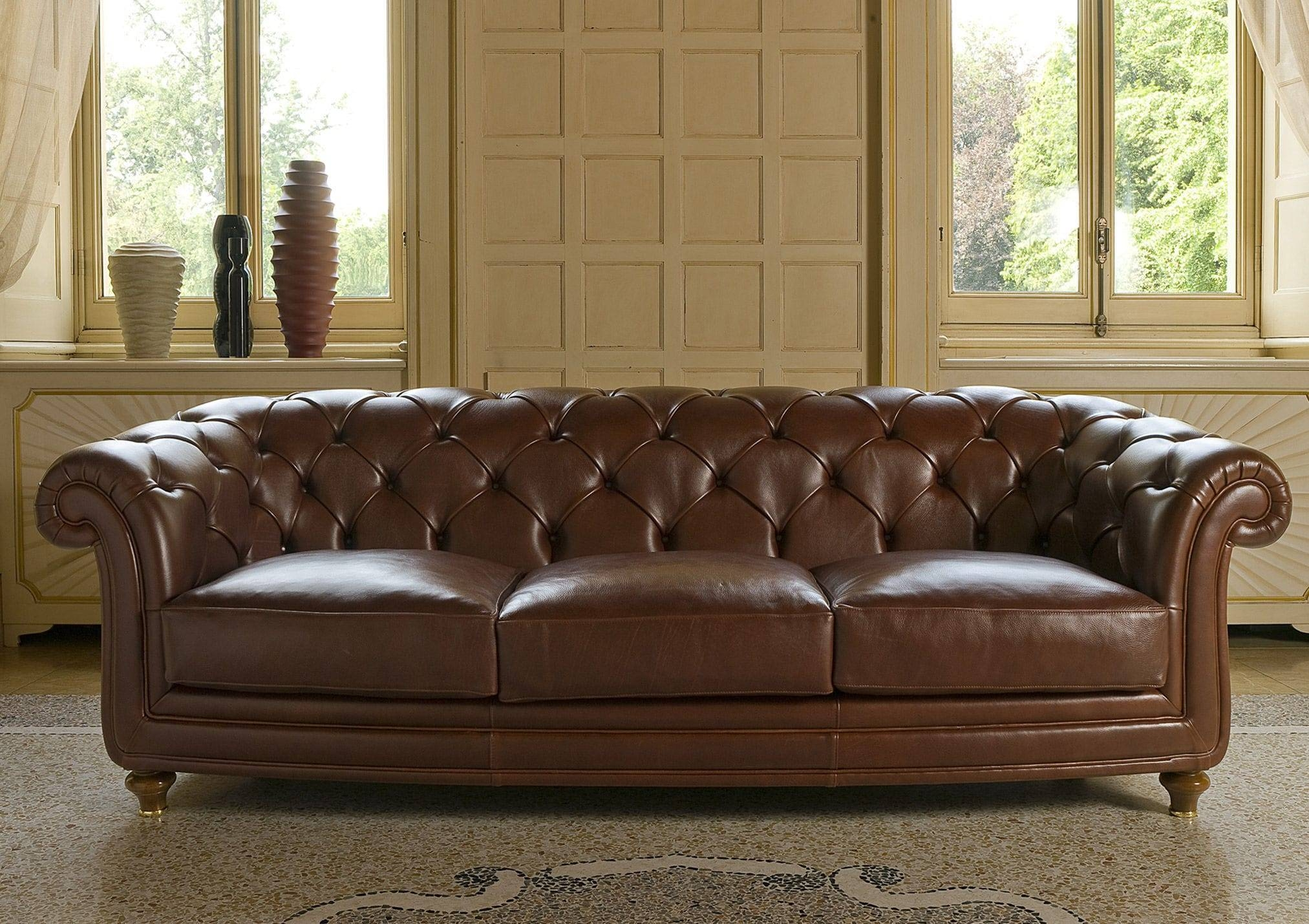 Chesterfield Sofa / Leather / Fabric / 3-Seater - Oxford - Berto with regard to Oxford Sofas (Image 8 of 30)