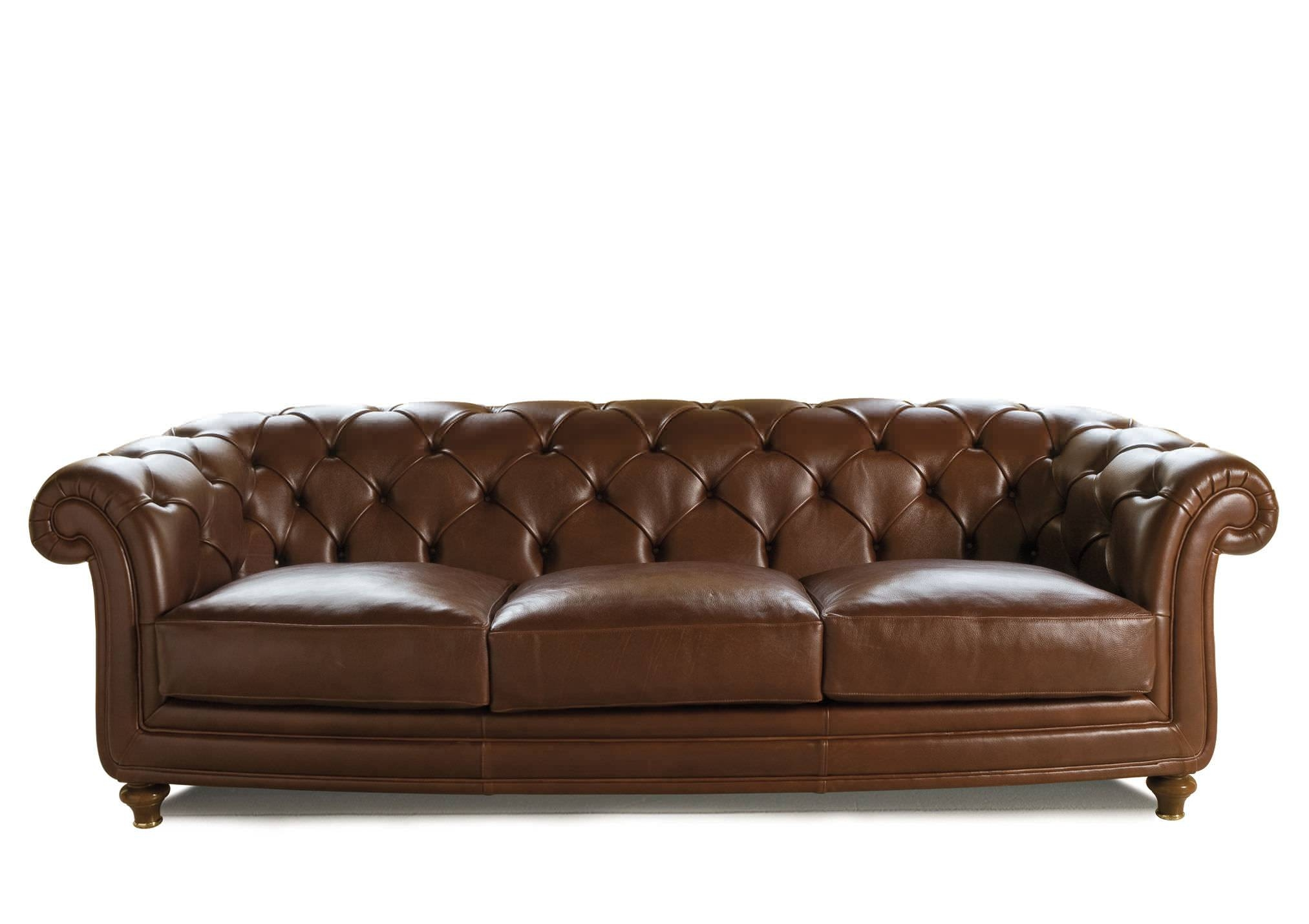 Chesterfield Sofa / Leather / Fabric / 3-Seater - Oxford - Berto with regard to Oxford Sofas (Image 7 of 30)