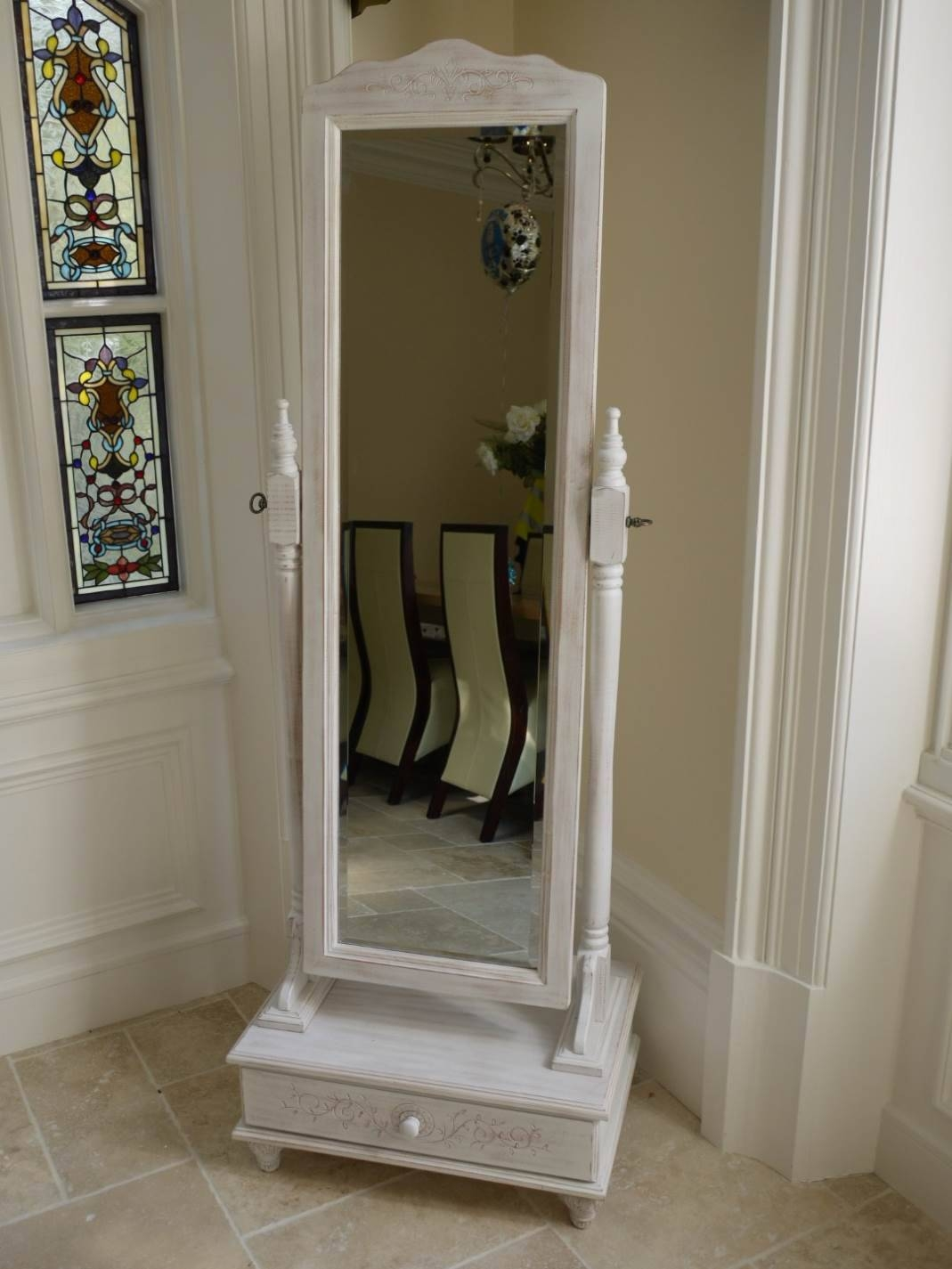 Cheval Mirrors For Style As Well As Feature | Victoria Homes Design intended for Full Length Free Standing Mirrors With Drawer (Image 3 of 25)