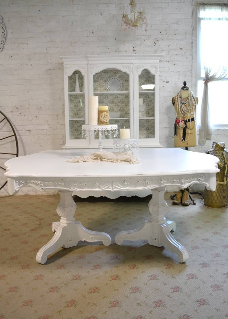 Chic Dining Table within French White Coffee Tables (Image 10 of 30)
