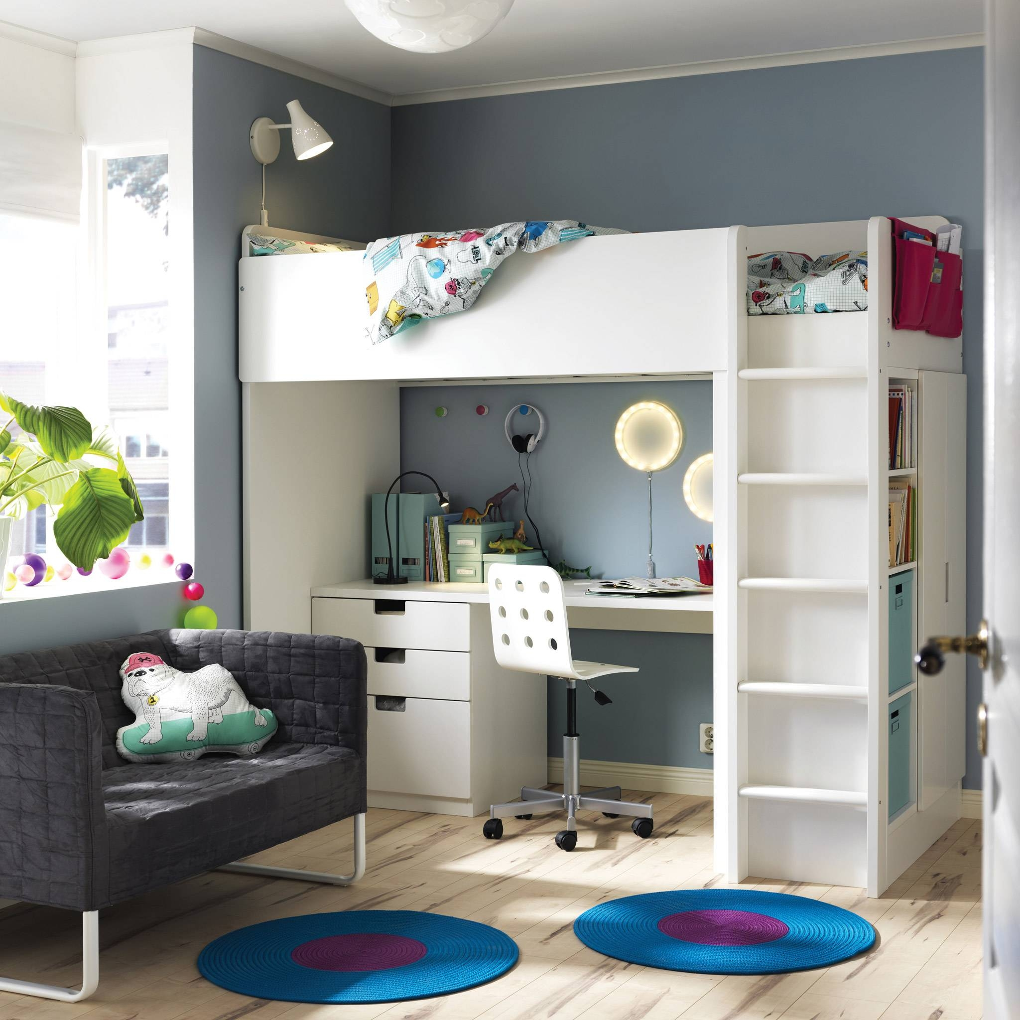 Children's Furniture & Ideas | Ikea regarding Bed and Wardrobes Combination (Image 9 of 15)