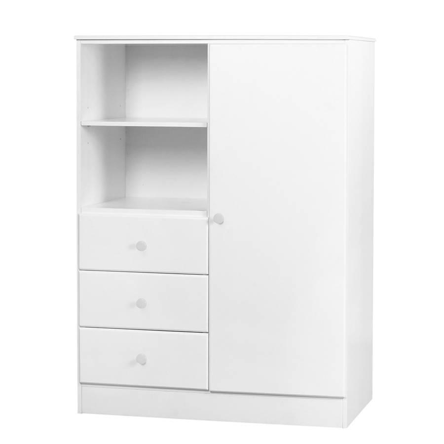 Childrens-Wardrobe-Single-Door-White-Handles-Willow-White pertaining to Childrens Wardrobes White (Image 8 of 15)
