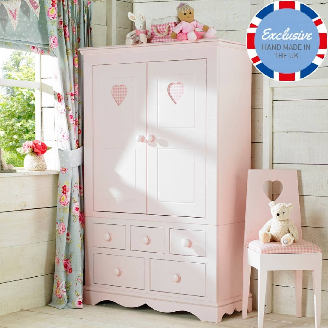 Childrens Wardrobes | Childrens Furniture - Little Lucy Willow Uk throughout Childrens Double Rail Wardrobes (Image 19 of 30)
