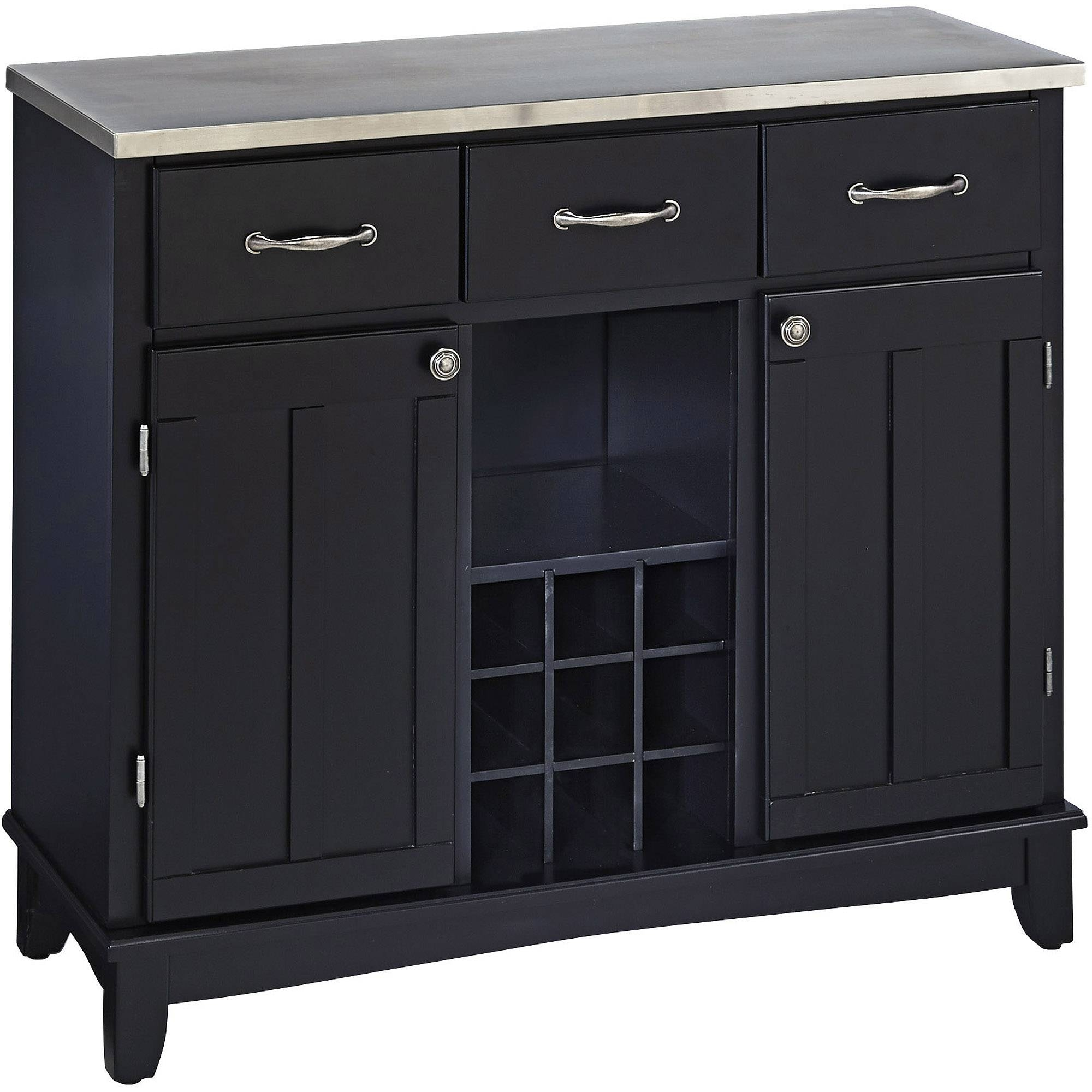 China Cabinet & Buffet Furniture : Kitchen & Dining Furniture regarding Black and Walnut Sideboards (Image 8 of 30)