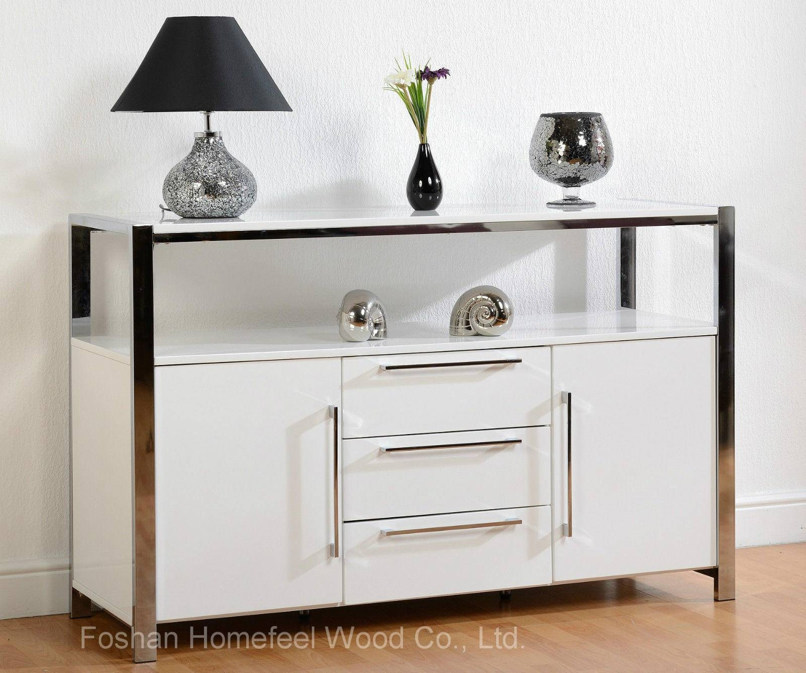 China Contemporary High Gloss White Sideboard Dining Room Storage with High Gloss Sideboards (Image 8 of 30)
