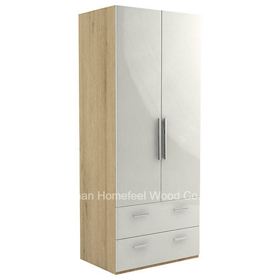 China Cream Color High Gloss Wardrobe Cabinet (Hf-Ey045) Photos throughout Cream Gloss Wardrobes (Image 3 of 15)