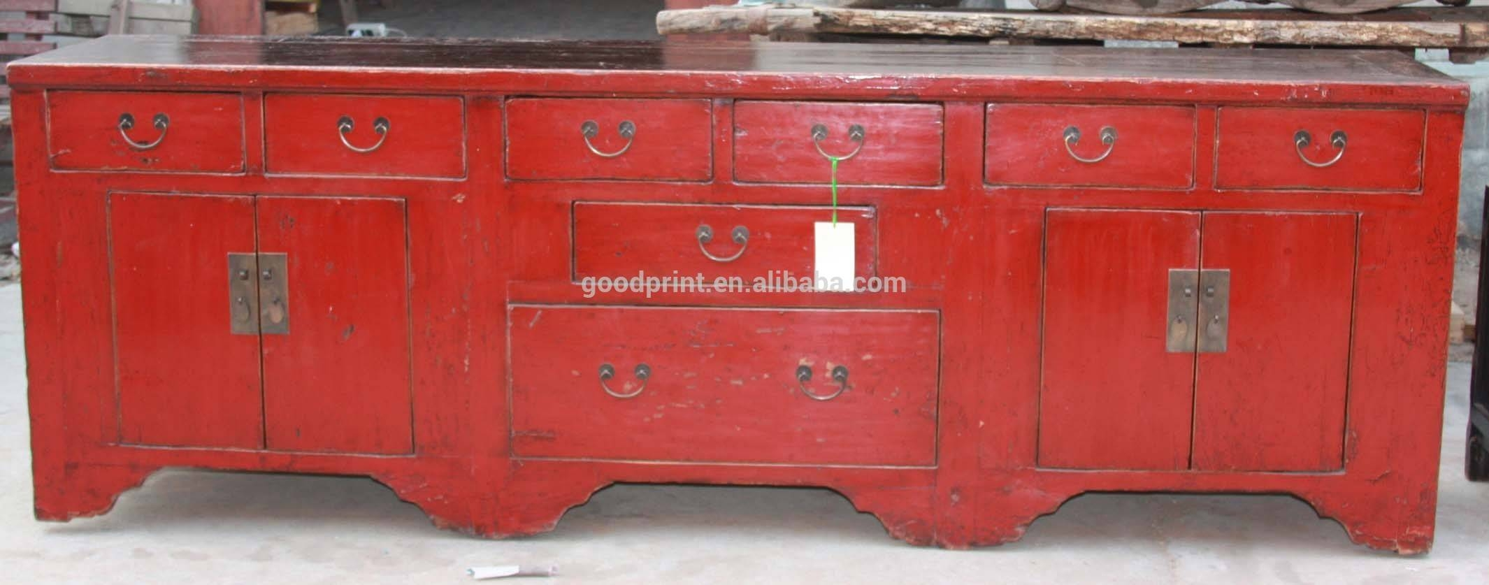 Chinese Antique Red Long Sideboard – Buy Chinese Antique Red Long Within Chinese Sideboards (View 10 of 30)