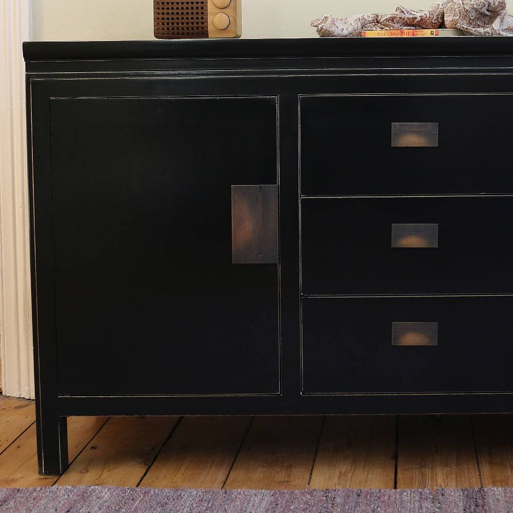 Chinese Black Lacquer Sideboard | 4 Living regarding Chinese Sideboards (Image 11 of 30)