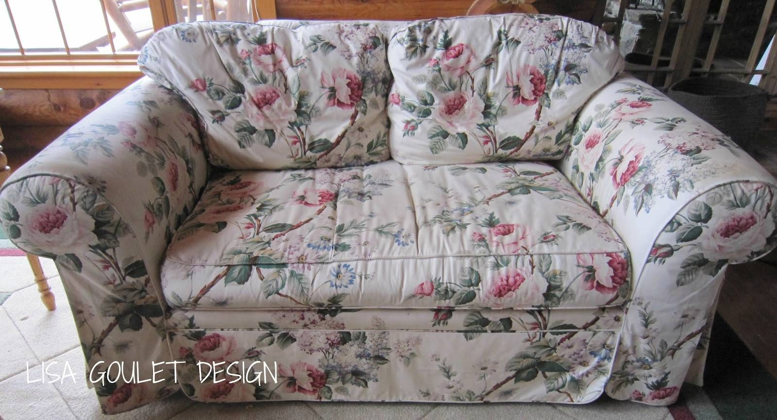Chintz Sofa - Gallery Image Serenityrealm inside Chintz Floral Sofas (Image 16 of 30)