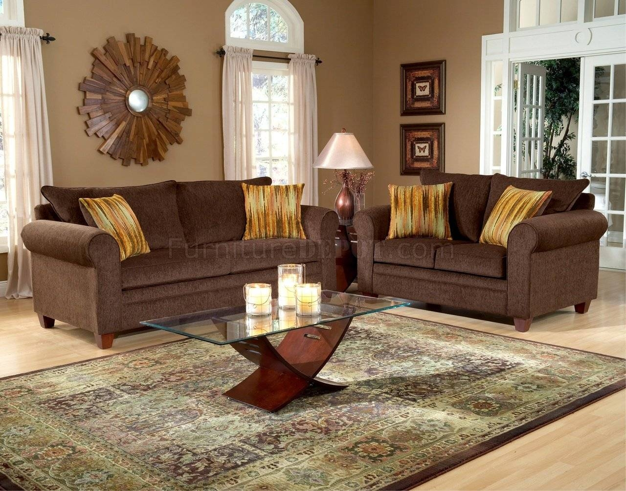 chocolate fabric elegant living room sofa u0026amp loveseat set for elegant fabric sofas image
