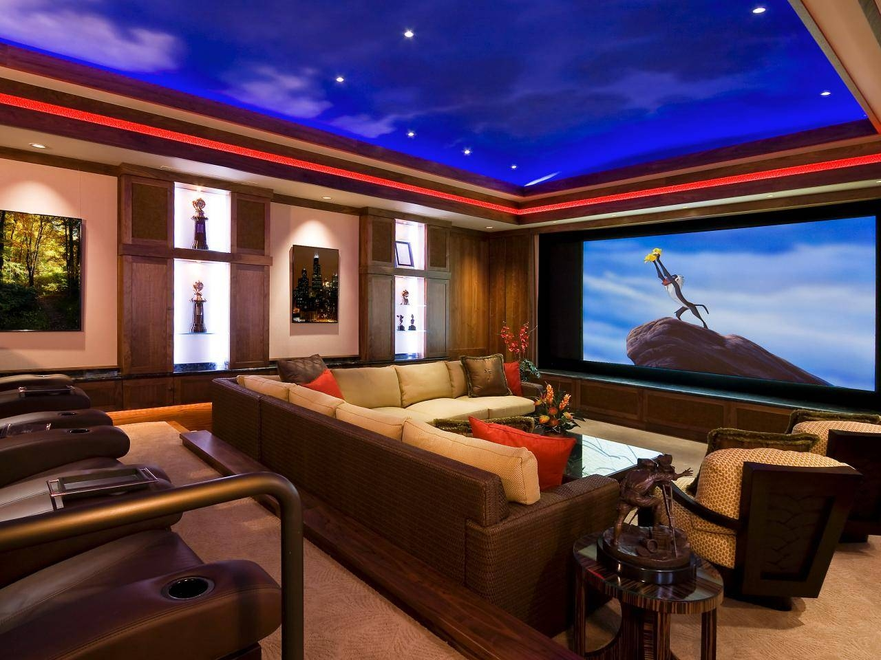 Choosing A Room For A Home Theater | Hgtv in Theater Room Sofas (Image 3 of 30)
