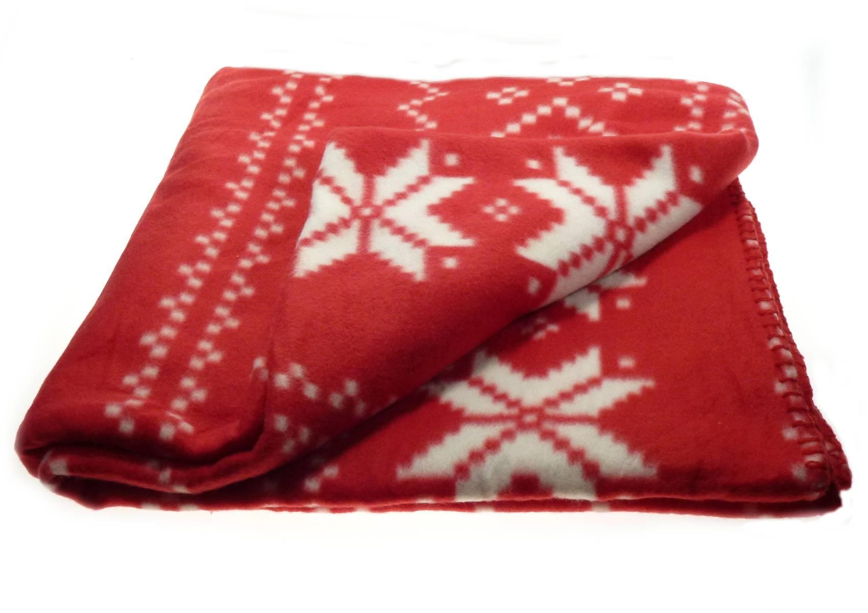 Christmas Soft Fleecy Throw Over Festive Xmas Polar Fleece Bed regarding Red Sofa Throws (Image 5 of 25)