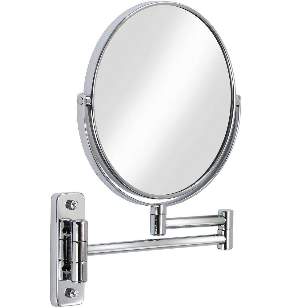 Chrome - Bathroom Mirrors - Bath - The Home Depot with Chrome Mirrors (Image 4 of 25)