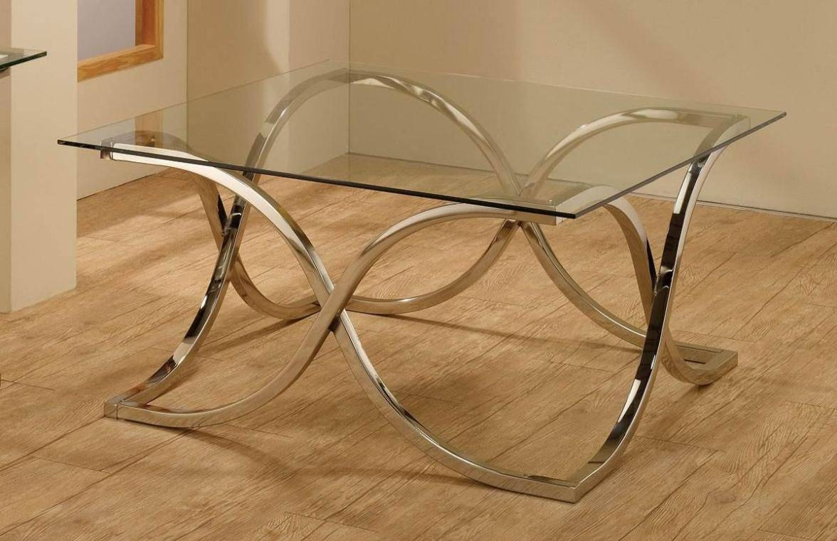 Chrome Coffee Table Base : Bed & Shower - Intricate Design Chrome regarding Chrome Coffee Table Bases (Image 7 of 30)