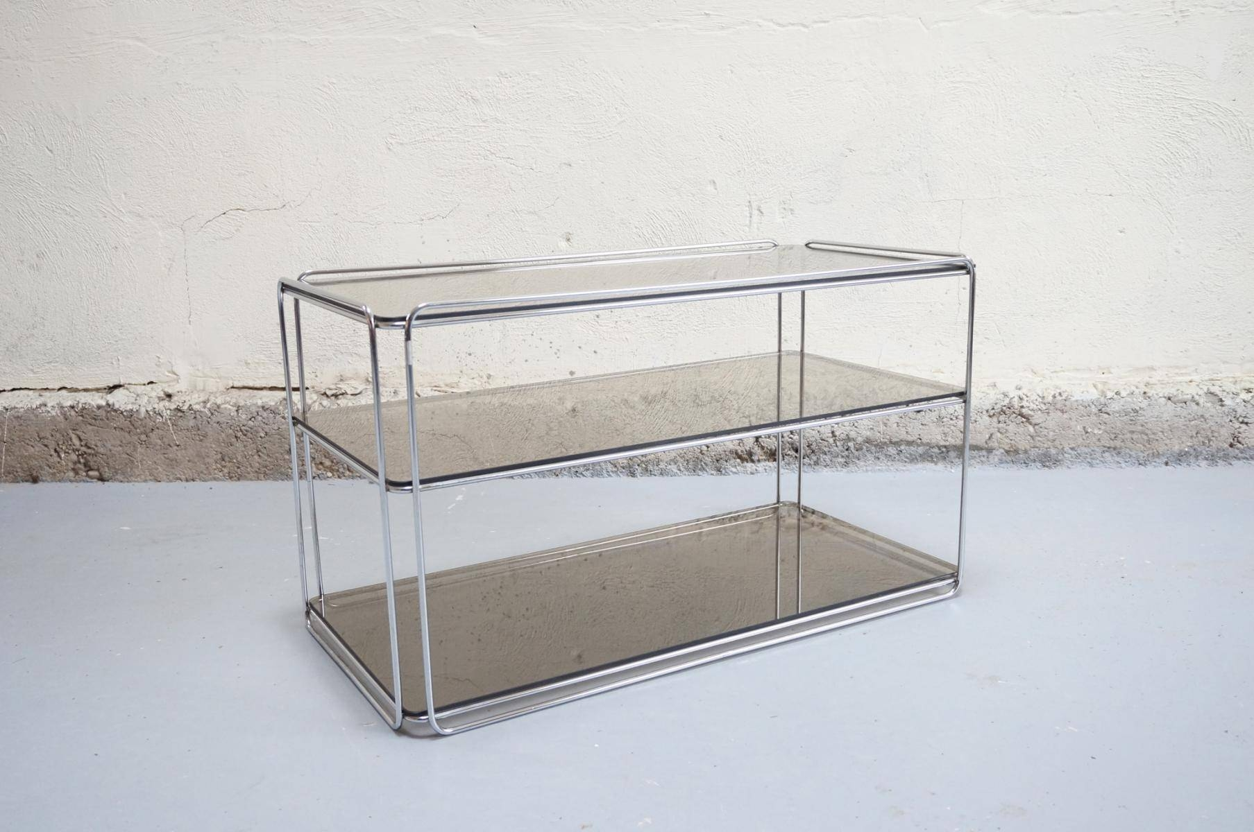 Chrome & Glass Coffee Tablemax Sauze For Isocèle, 1970S For for Chrome and Glass Coffee Tables (Image 4 of 30)
