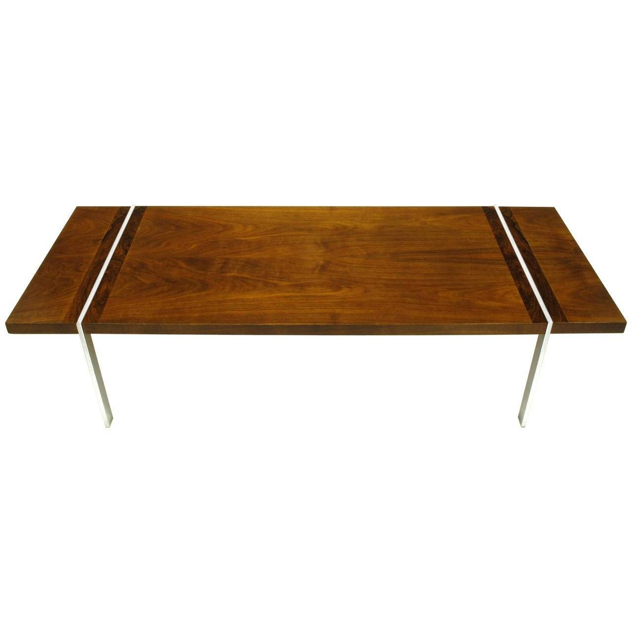 Chrome, Walnut And Rosewood Tripartite Coffee Tablelane For pertaining to Wood Chrome Coffee Tables (Image 3 of 30)