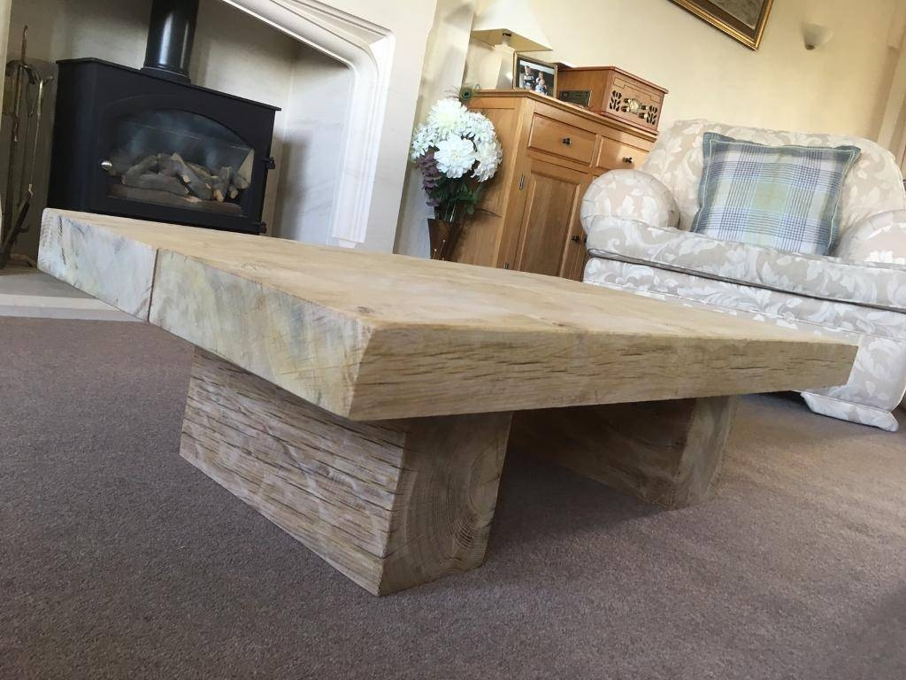 Chunky Oak Coffee Table | In Colne, Lancashire | Gumtree inside Chunky Oak Coffee Tables (Image 10 of 30)