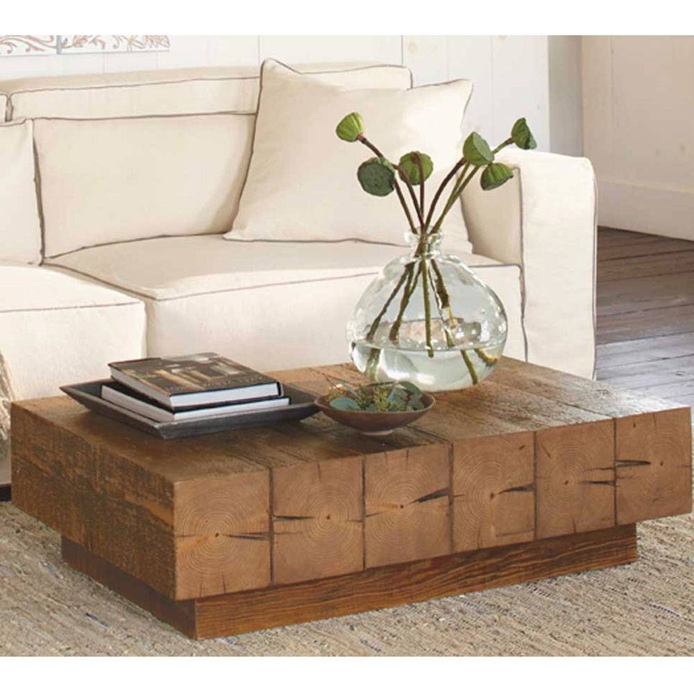 Chunky Timber Coffee Table | Vivaterra within Chunky Coffee Tables (Image 6 of 30)