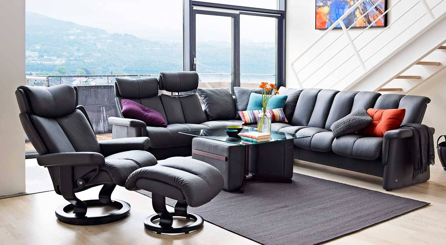Circle Furniture - Legend Stressless Sectional | Ekornes with Ekornes Sectional Sofa (Image 8 of 30)