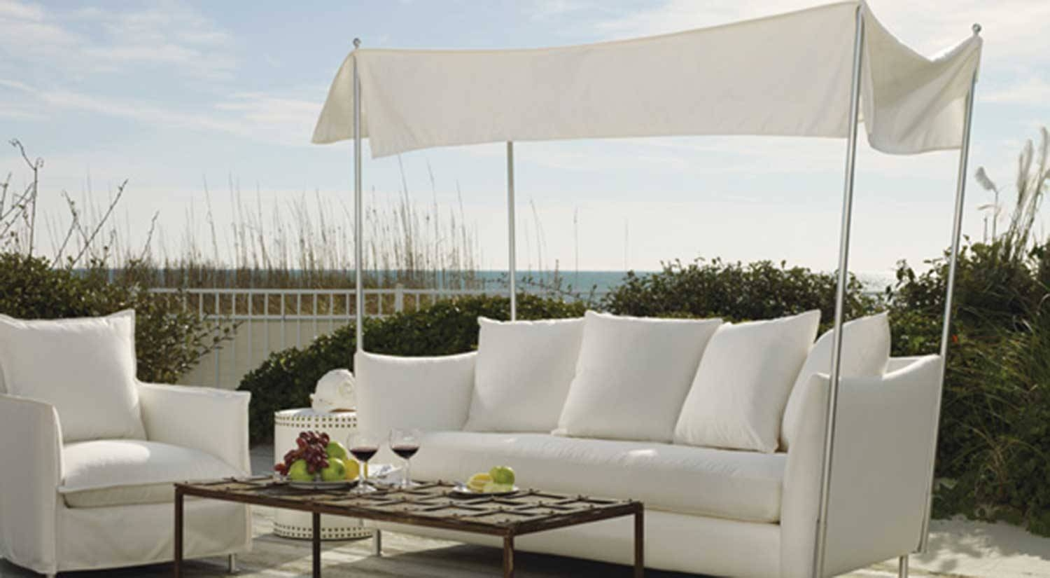 Circle Furniture - Oleander Outdoor Sofa With Canopy | Outdoor with Outdoor Sofas With Canopy (Image 4 of 30)